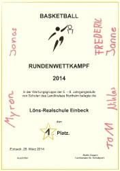 RuWK-BB 2014 1. Platz