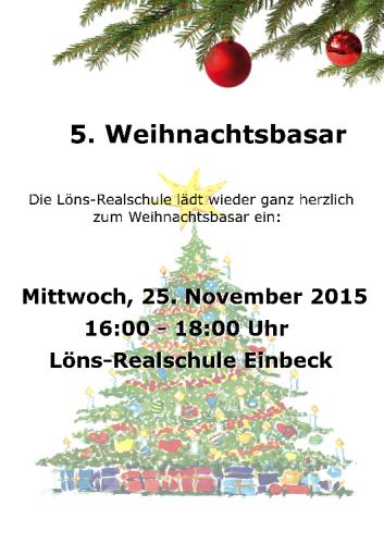 Plakat-Weihnachtsbasar 2015