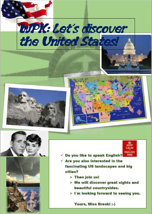 Let's discover the United States | Löns-Realschule